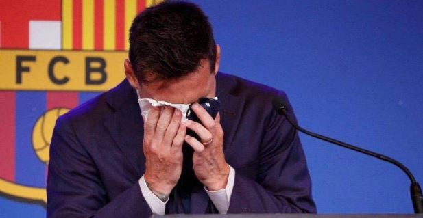 cry messi