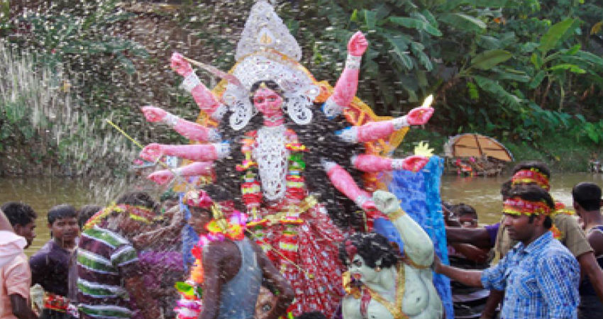 Durga Puja rains website